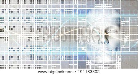 Engineering Technology on a Virtual Platform System 3D Illustration Render