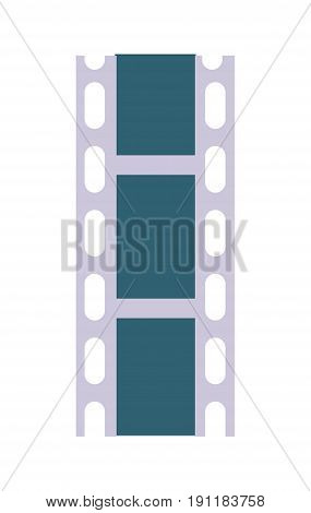 Celluloid film strip vector icon. Cinema produce vector illustration isolated on white background.