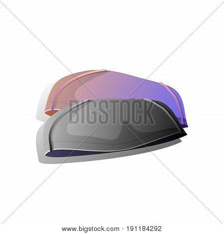 Swimming cap in different color. Vector Illustration design