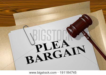 Plea Bargain Concept