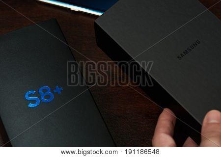 Box Of New Samsung S8+
