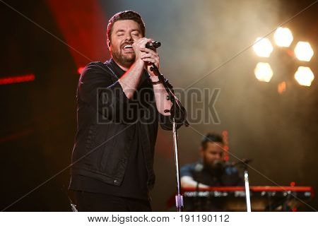 NASHVILLE, TN-JUN 10: Country singer Chris Young performs in concert during the CMA Music Festival on June 10, 2017 at Nissan Stadium in Nashville, Tennessee.