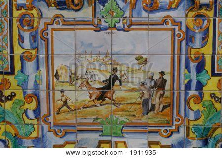 Spanish Tiled Scene