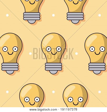 colorful background with pattern of animated light bulb vector illustration