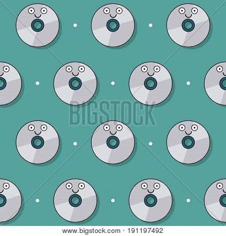 colorful background with pattern of animated compact disc vector illustration