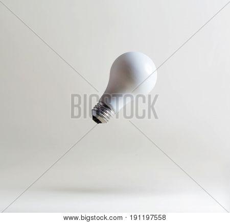 White Light Bulbs Floating