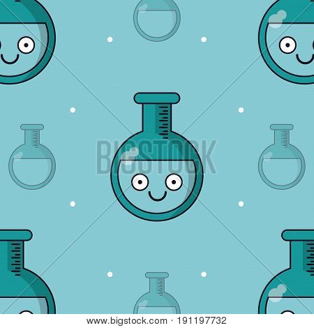 colorful background with pattern of test tube animated vector illustration