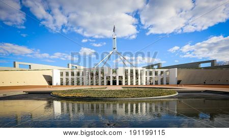 Canberra Australia 3 May 2017: Australia's Parliament House