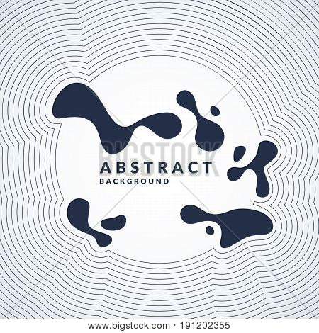 Bright abstract background with a dynamic waves, splash and around in a minimalist style. Vector illustration for website design