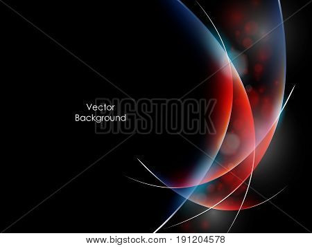 colorful vector wavy backdrop. Bright background with copy space. Template for design. Eps10