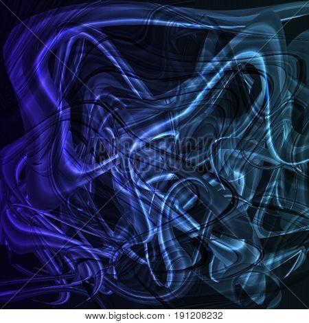 Twirl luminous light blue background. Vector backgrond
