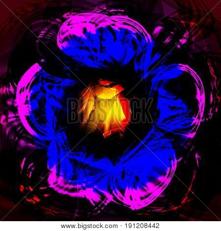 Twirl luminous light pink blue background. Vector background