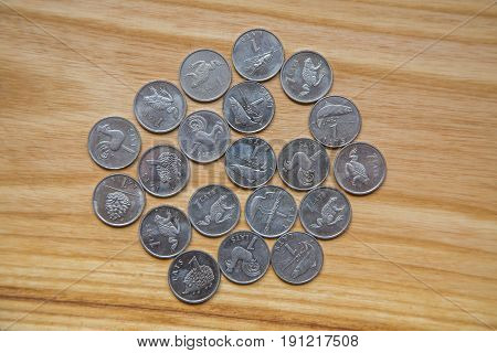 Anniversary Lat Coins Of An Old Latvian Currency