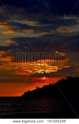 Sunset  Peace Coastline In Madagascar Nosy Be