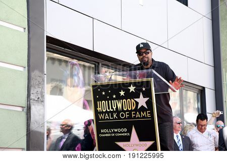 LOS ANGELES - JUN 12:  O'Shea Jackson Sr aka Ice Cube at the Ice Cube Star Ceremony on the Hollywood Walk of Fame on June 12, 2017 in Los Angeles, CA