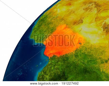 Nigeria On Globe