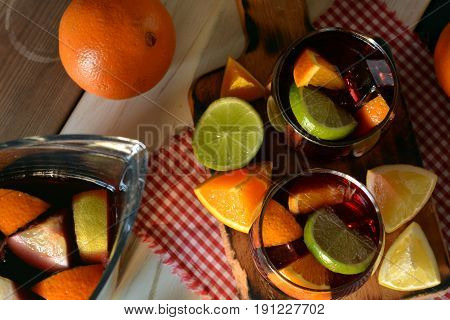 Glass Of Ice Cold Sangria