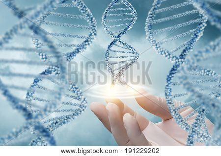 Hand In Glove Supports Of The Dna Molecule.