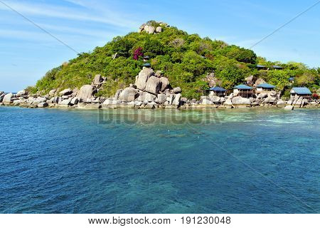 Asia Kho Tao   Rocks House Boat In Thailand  And South China Sea