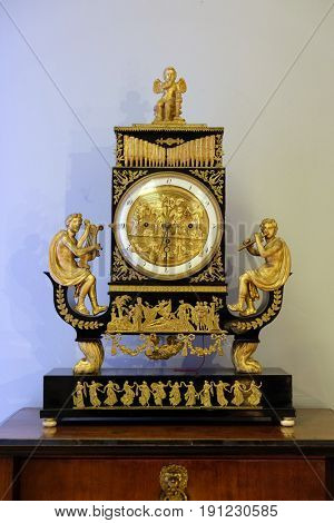 ZAGREB, CROATIA - FEBRUARY 17: 19th century clock, Zagreb, Croatia on February 17, 2015.
