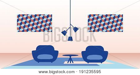 Modern living room. Illustration of modern home interior.