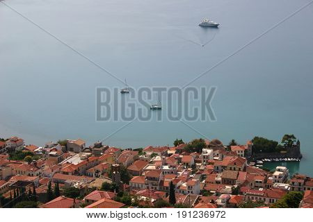 picturesque fishing village in the mediterranean sea