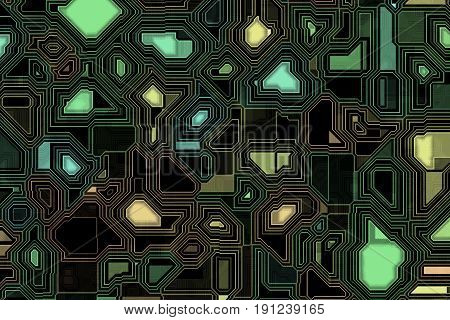 Abstract illustration of the printed circuit background