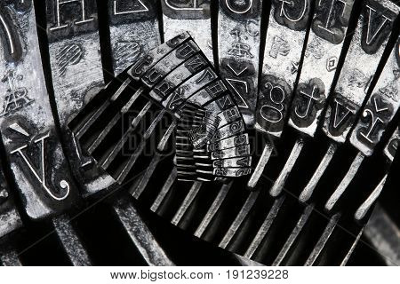 Abstract letters background - matrix of old typewriter