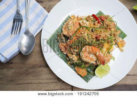 Food series: Pad-Thai with acacia, Famous Thai food