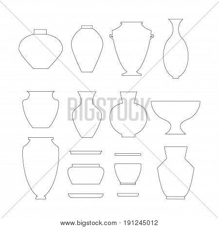 Pottery Icon Set