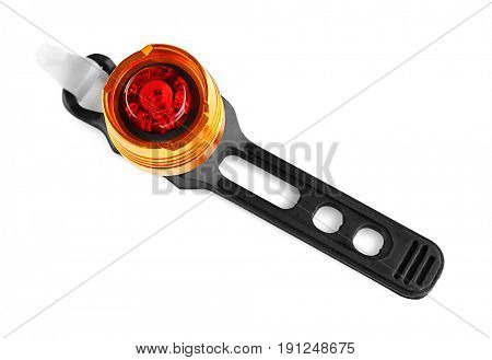 Bicycle flasher on white background