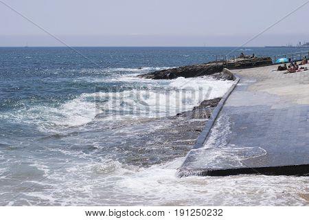 Praia da Azarujinha, beach in Estoril, portugal