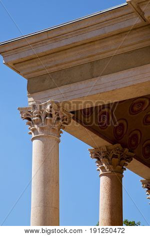 Italy   Olgiate Olona Varese  The Old Wall  Church   Column