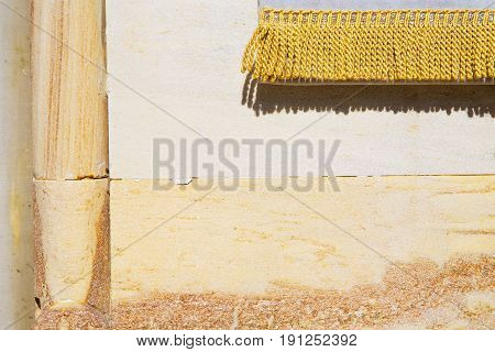 Milan  Italy Old Church Concrete Wall  Brick   The  Gold