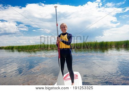 Sup Stand Up Girl With A Paddle 05