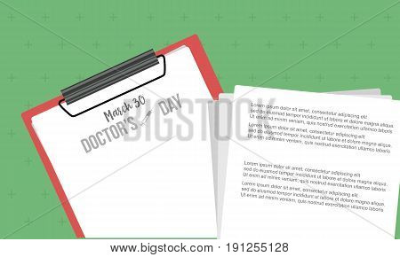 Doctor day vector art for card style collection stock