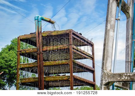 the Water supply tank in Thailand bule