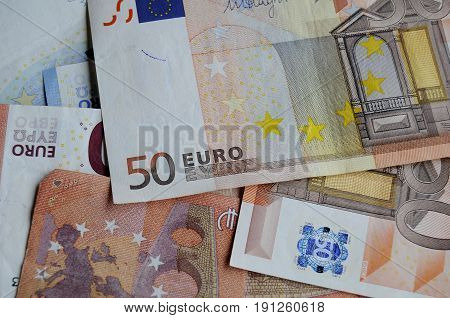kastrup/Copenhagen /Denmark - 15 June 2017. _Euro money notes . (Photo.Francis Joseph Dean/Deanpictures)