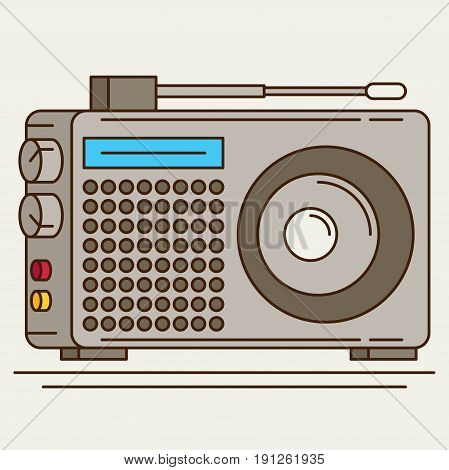 Radio. Flat icon vector colorful for design