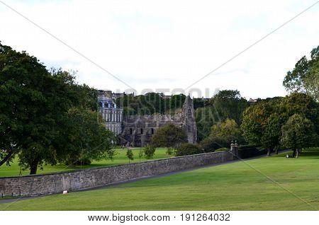 Scenic views from Arthur's Seat in Edinburgh Scotland.