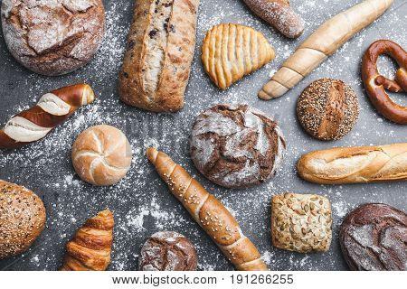 Variety Of Delicious Fresh And Healthy Bread
