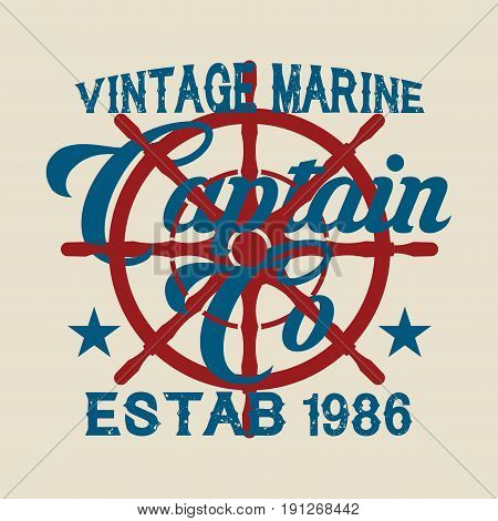 drawing t-shirt NYC nautical design sailor vector printing badge applique label