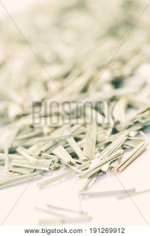 Close up of dried lemon grass