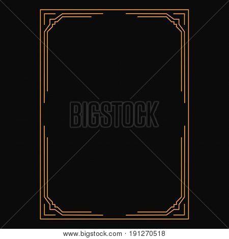 vector imageon black background decorative ornamental frame