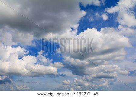 blue sky with rain cloud art of nature beautiful and copy space for add text