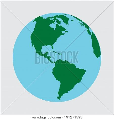 planet Earth icon. Flat planet Earth icon. Flat design illustration for web banner web and mobile infographics. Vector icon