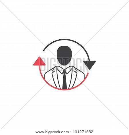 SEO consulting symbol, operator linear colorful icon, pictogram on a white background, vector illustration, eps 10..