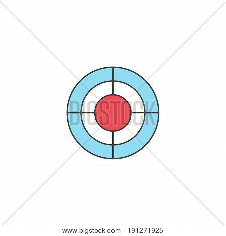 SEO target bullseye symbol, Successful Business, dart  linear colorful icon, pictogram on a white background, vector illustration, eps 10..