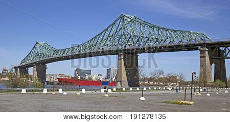 Jacques-Cartier bridge acces to the city of Montreal, Canada