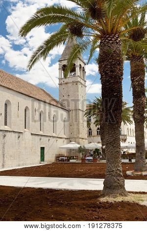 View on old town of Trogir in Croatia.